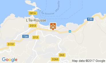Mapa Location Ile Rousse Apartamentos 86870