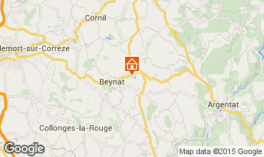 Mapa Brive-la-Gaillarde Chalé 99381