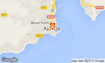Mapa Ajaccio Apartamentos 73148
