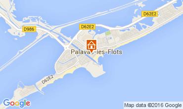 Mapa Palavas-les-Flots Apartamentos 104876