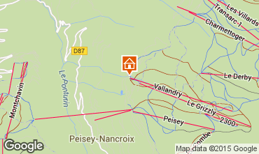 Mapa Peisey-Vallandry Apartamentos 28048