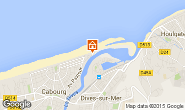 Mapa Cabourg Apartamentos 15886