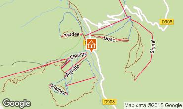 Mapa La Foux d'Allos Est�dio 91151