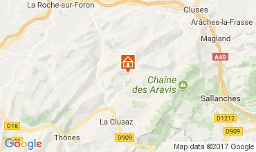 Mapa Le Grand Bornand Chalé 112003