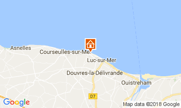 Mapa Saint-Aubin-sur-Mer Casa 112950