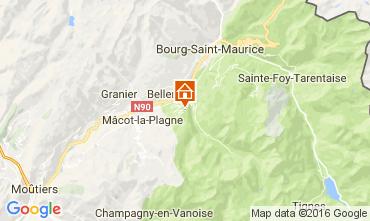 Mapa Montchavin les Coches Apartamentos 95029