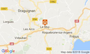 Mapa Roquebrune sur Argens Apartamentos 115227