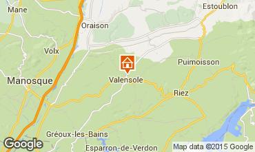 Mapa Valensole Vivenda 73835