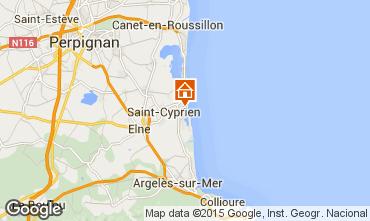 Mapa Saint Cyprien Plage Apartamentos 56695