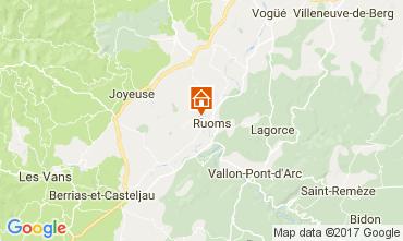 Mapa Vallon-Pont-D'Arc Casa de turismo rural/Casa de campo 112484