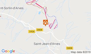 Mapa Saint Jean d'Arves Apartamentos 119843