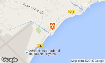 Mapa Hyères Apartamentos 5818
