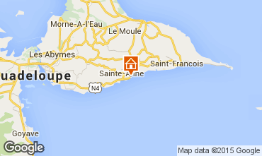 Mapa Sainte Anne (Guadalupe) Apartamentos 14725