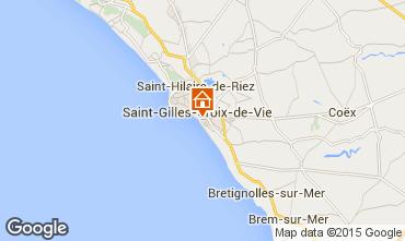 Mapa Saint-Gilles-Croix-de-Vie Apartamentos 98354