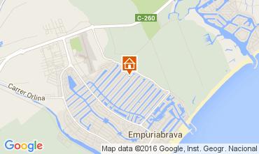 Mapa Empuriabrava Apartamentos 103718