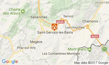 Mapa Saint-Gervais-les-Bains Apartamentos 108922