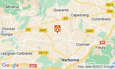 Mapa Narbonne Casa 115058