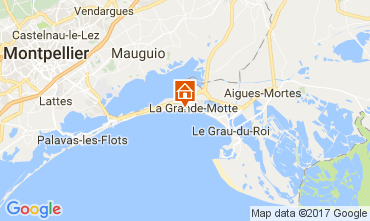 Mapa La Grande Motte Apartamentos 108883