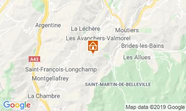 Mapa Valmorel Apartamentos 110665