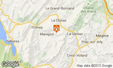 Mapa Manigod-Croix Fry/L'étale-Merdassier Estúdio 77964