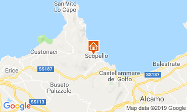 Mapa Scopello Apartamentos 80627