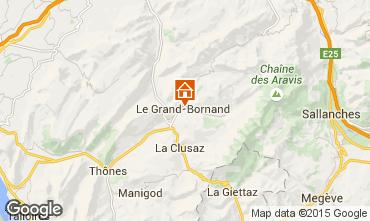 Mapa Le Grand Bornand Apartamentos 1364