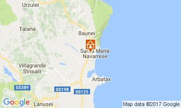 Mapa Santa Maria Navarrese Vivenda 110022