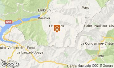 Mapa Les Orres Chal� 38653