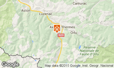 Mapa Ax Les Thermes Chal� 67769
