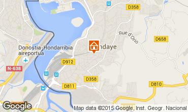Mapa Hendaye Apartamentos 82155