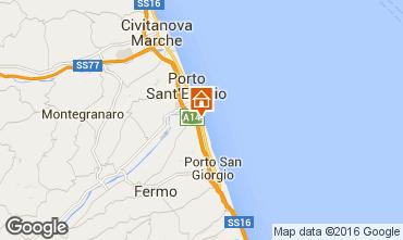 Mapa Porto San Giorgio Mobil Home 86295