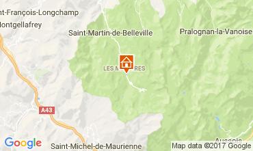 Mapa Les Menuires Apartamentos 111788