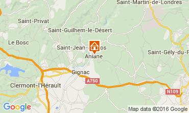 Mapa Saint Guilhem le Désert Casa de turismo rural/Casa de campo 101565