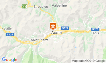 Mapa Aosta Apartamentos 75618