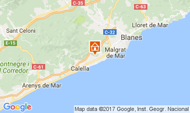 Mapa Pineda de Mar Chalé 45875