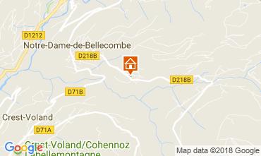 Mapa Notre Dame de Bellecombe Chalé 113667
