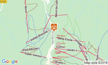 Mapa Les 2 Alpes Apartamentos 1260