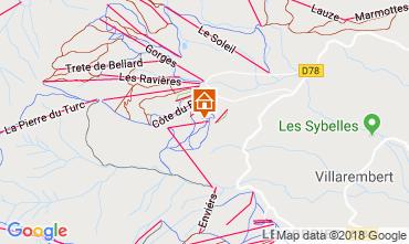 Mapa La Toussuire Apartamentos 116507