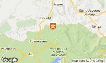 Mapa Moustiers Sainte Marie Vivenda 102942