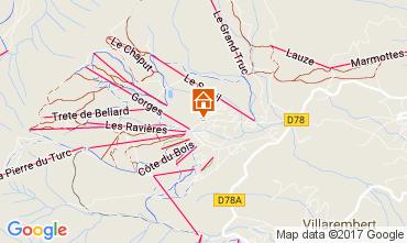 Mapa La Toussuire Apartamentos 107180