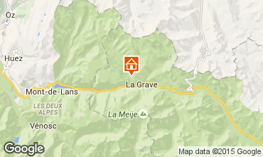 Mapa La Grave - La Meije Chalé 4764
