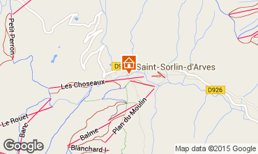 Mapa Saint Sorlin d'Arves Estúdio 2690