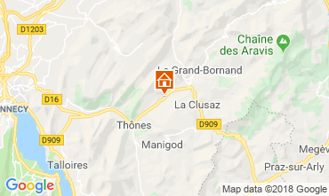 Mapa La Clusaz Apartamentos 117583
