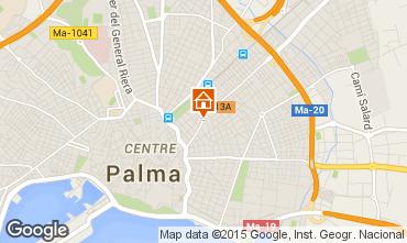 Mapa Palma de Maiorca Apartamentos 77305