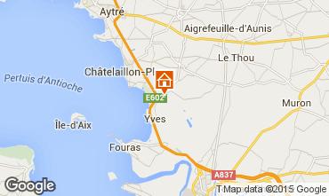 Mapa Châtelaillon plage Quarto de hóspedes 56831