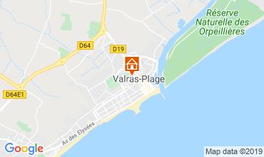 Mapa Valras-Praia Apartamentos 93432