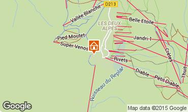 Mapa Les 2 Alpes Apartamentos 66160