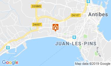 Mapa Juan les Pins Apartamentos 86704