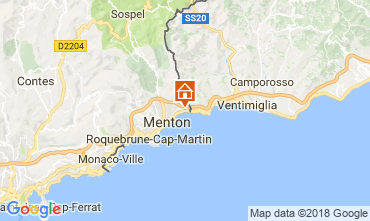 Mapa Menton Apartamentos 104588