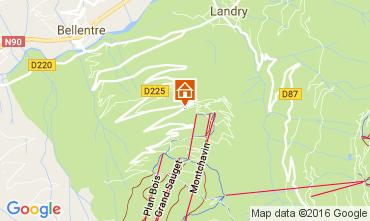 Mapa Montchavin les Coches Apartamentos 73807